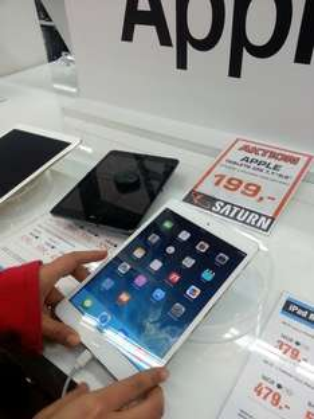 [Lokal FFM] iPad Mini 16GB WiFi Grau MF432FD/A - Saturn Skyline Plaza