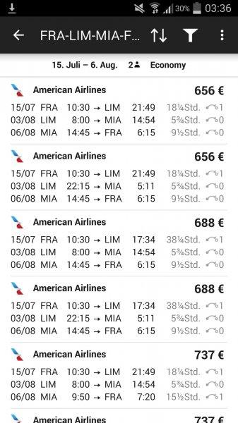 Günstige Flüge in den Sommerferien nach Lima mit Stopover in Miami