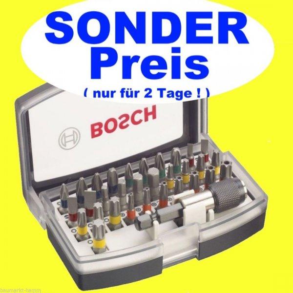 BOSCH 32-tlg. Schrauberbit-Set für 8,90 EUR inkl. VSK