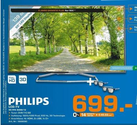 [Lokal Saturn Bad Oeynhausen/Herford] PHILIPS 55PFK6959/12 , EEK: A+  für 699,- anstatt 999,-€
