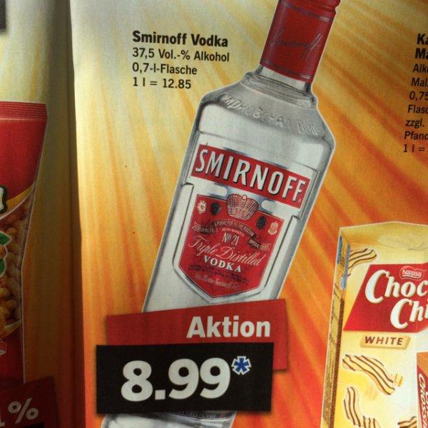 [Lokal] Heilbronn - Smirnoff Vodka 0,7L  bei LIDL
