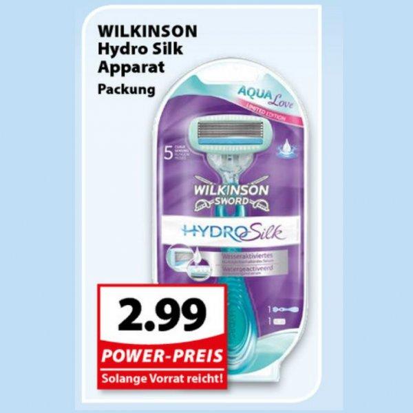 [FAMILA NW / SKY] Wilkinson Hydro Silk inkl. 1 Klinge für 0,00€ bzw. -2,01€/1,01€ Gewinn/Stück
