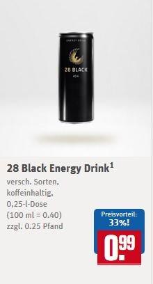 """[REWE] 28 Black Energy Drink (""""Schwarze Dose"""") 0,99€ + Pfand"""