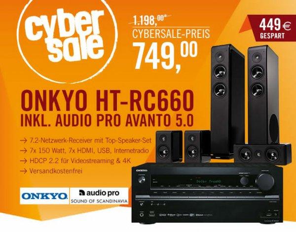 [Cyberport] Onkyo HT-RC660 & Audio Pro Avanto 5.0 für 749,00€ inkl Versand (PVG:1017,90€)