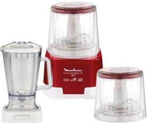 Moulinex DP805G La Moulinette Plus DeLuxe, Zerkleinerer und Standmixer, 1000 W, Metallic Rot für 64,90 € @MeinPaket