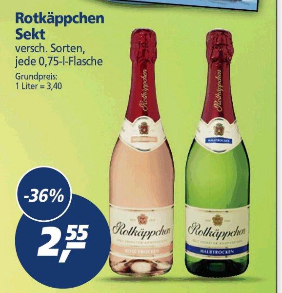 [REAL] Rotkäppchen Sekt, verschiedene Sorten 0,75l für nur 2,55 EUR (16.-21.03.)