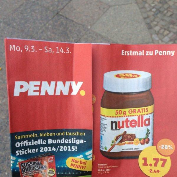 [Berlin?]  Nutella 500g 1,77 Euro bei Penny
