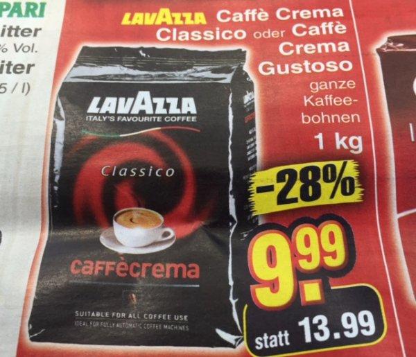 [Netto ohne Hund] Lavazza 1kg ganz Kaffeebohnen für 9,99 EUR
