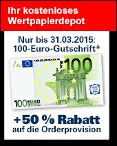 1822 Depot Aktion 100 Euro + Kostenlos Traden am 16.3.2015