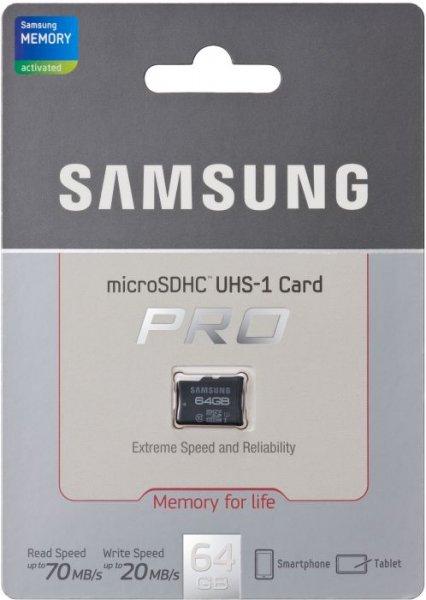 [Lokal MM Berlin] Samsung PRO microSDHC Karte 64GB (bis 70MB/s Lesen, bis 20MB/s Schreiben)