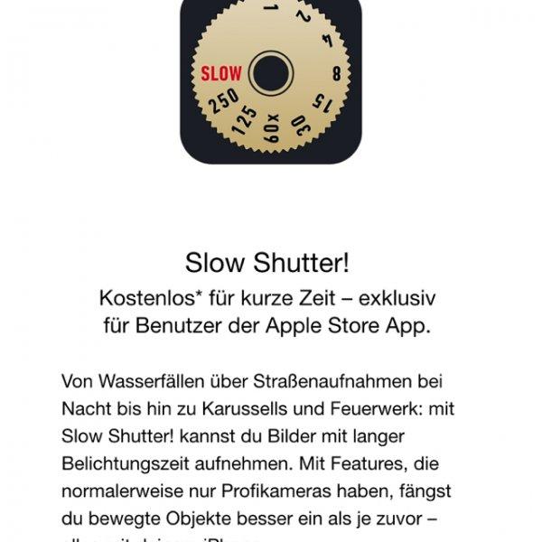 App Gratis für Applejaner: Slow Shutter