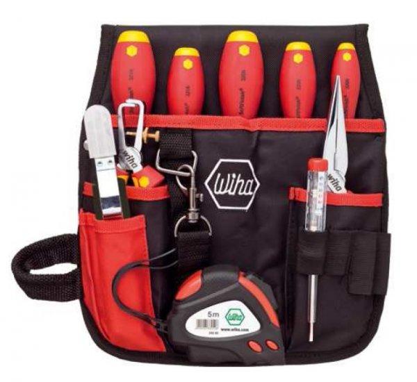 Wiha Werkzeug-Set Elektriker-Gürteltasche 10tlg