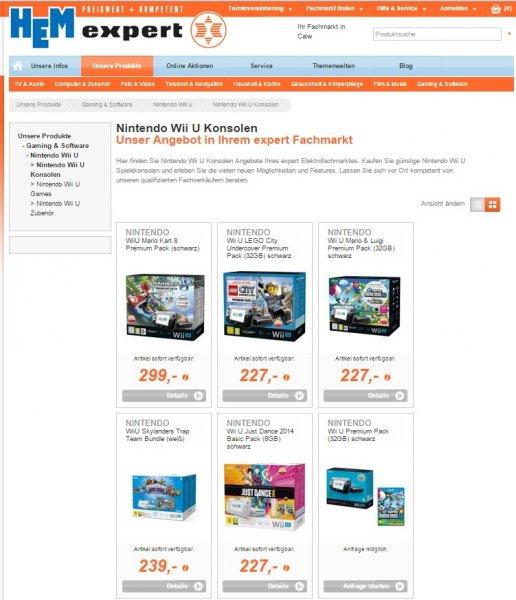 Nintendo Wii U Premium Konsolenbundle (Mario & Luigi oder Lego City) für 227€ [lokal]