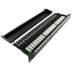 "[deluxecable.de] Ligawo Patchpanel 24-fach CAT.6A 19"" 1HE"