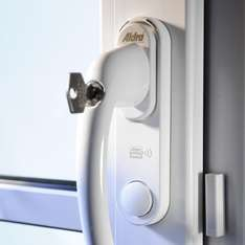 Lokal oder gegen Vorkasse: Aldra Safety  - Abschließbarer Fenstergriff mit Alarm (ähnlich Abus FG300A) 36,90 €