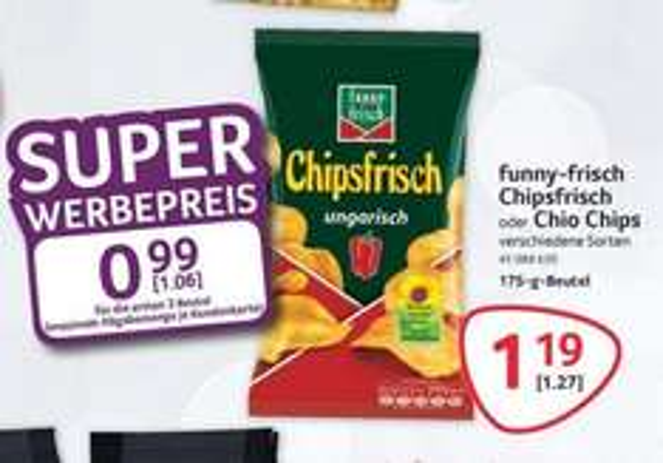 Chipsfrisch oder Chio Chips für € 1,06 bei Selgros ( max. 3 Tüten )