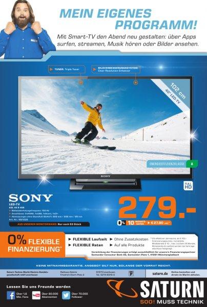 [Saturn Leverkusen ] Sony BRAVIA KDL-40R455 LED TV 40 Zoll Full HD, Motionflow XR 100Hz, DVB-T/C/S2