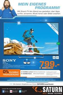 Sony KDL55W815B (600Hz,3D,LED,Smart TV) für 799€ LOKAL@Saturn Leverkusen