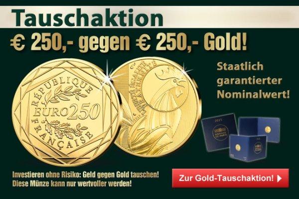 [Primus] Tauschaktion 250 Euro gegen 250 Euro Goldmünze Frankreich 2015 Gallischer Hahn