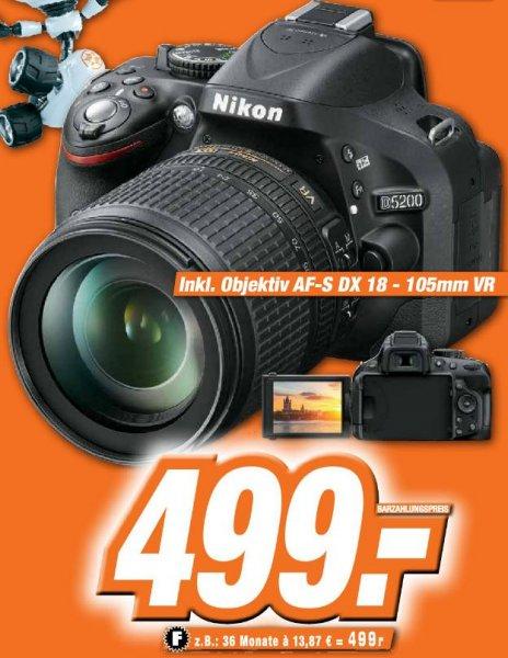 [Lokal Expert Bonn] Nikon D5200 + AFS DX 18-105mm VR Schwarz 499€
