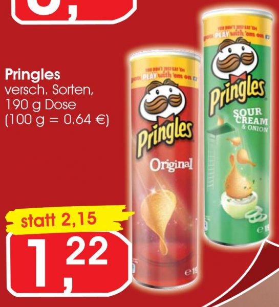 Pringles 1,22€ verschiedene Sorten ab Montag bei @ JIBI