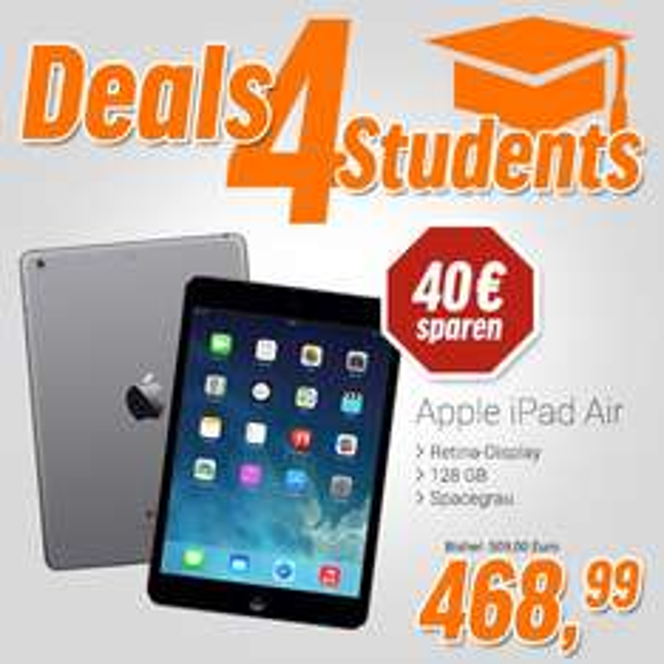 [Studenten] Apple Ipad Air 128 GB Wi-Fi, 468,99€, notebooksblilliger.de