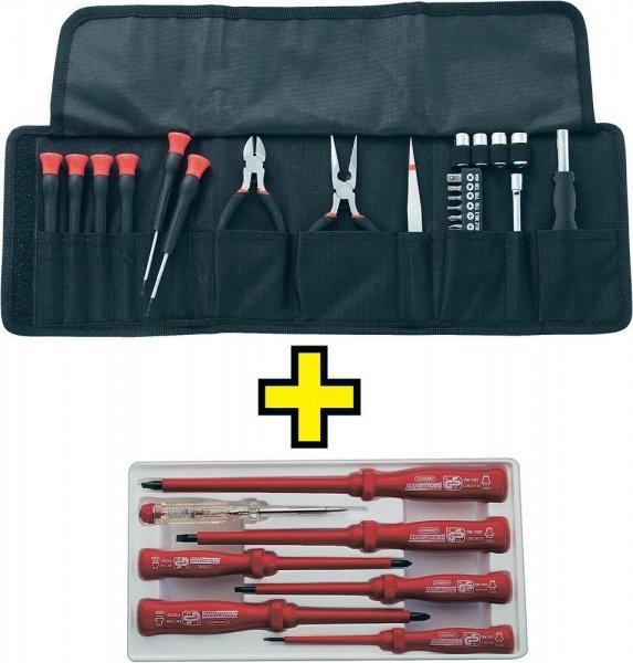 Elektronikerset in Tasche 25tlg. + VDE-Schraubendreher-Satz 7tlg für 10€ @ebay