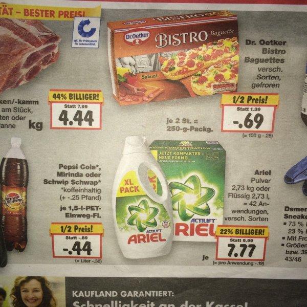 Dr. Oetker Bistro Baguettes für 0,69 Euro bei Kaufland