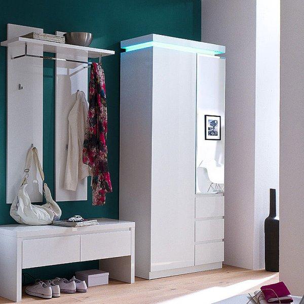Garderobenset Garderobe Diele Weiß Hochglanz Set, 826,77 EUR @ eBay