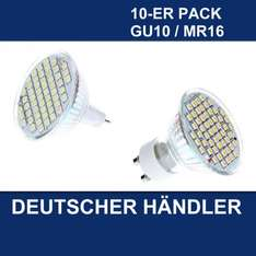 10x MR16/GU10 54 SMD 3W LED LAMPE BIRNE - Ebay