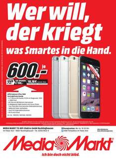 [Lokal Mediamarkt Recklinghausen] Apple Iphone 6Plus,16GB in allen Farben für je 600,-€