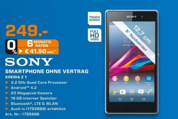 Saturn Frankfurt/Main Zeil - Sony Xperia Z1 16 GB für 249 Euro