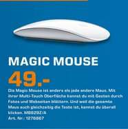 [Lokal Saturn Hilden] Apple Magic Mouse 49€