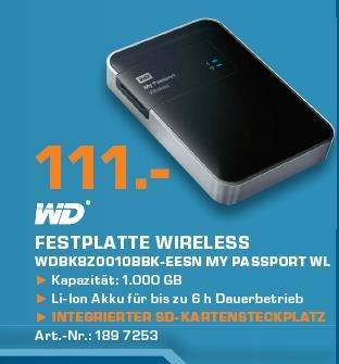 [Saturn Berlin] WD My Passport Wireless 1TB für 111,-