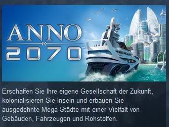 [Steam] Anno 2070 75% (auch DLCs und Complete(9,99))