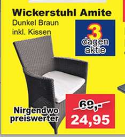 [Aachen/Heerlen] Gartenstuhl mit Kissen für 24,95€