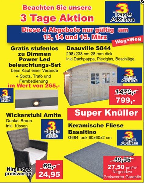[Aachen/Heerlen] Terrassenfliese Keramik 60x60x2cm nur 27,50€/m²
