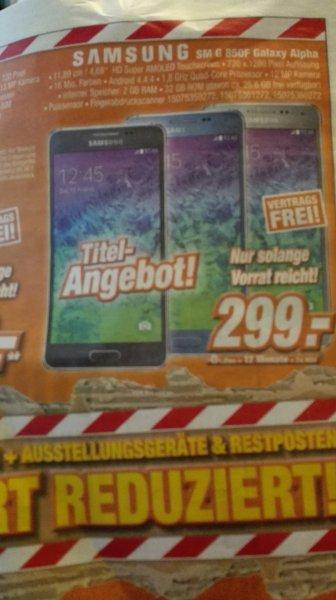 (lokal + online) Samsung Galaxy Alpha für 299€ @ Expert Klein