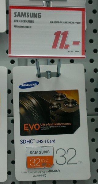 [STUTTGART] Samsung SDHC EVO 32GB Class 10 UHS-I für 11,00€ @ MediaMarkt Milaneo