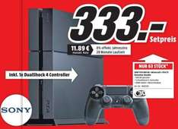 PS4 + Playstation TV nur am Sonntag [Lokal Kaiserslautern Mediamarkt]