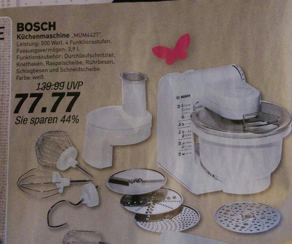 Bosch Küchenmaschine MUM4427 500 Watt mit allen Zubehörteilen 44% RABATT ab Montag @ MarktKauf