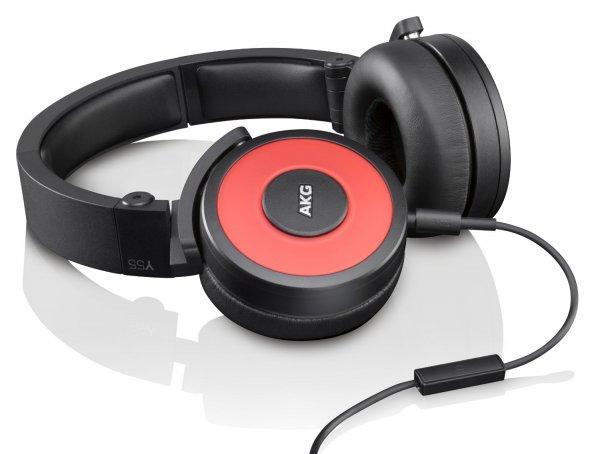 AKG Y55 rot - DJ-Kopfhörer mit integriertem Mikrofon und Fernbedienung für 72,61 € (Preisupdate 21.03.15: 80,55 €) @Amazon.fr