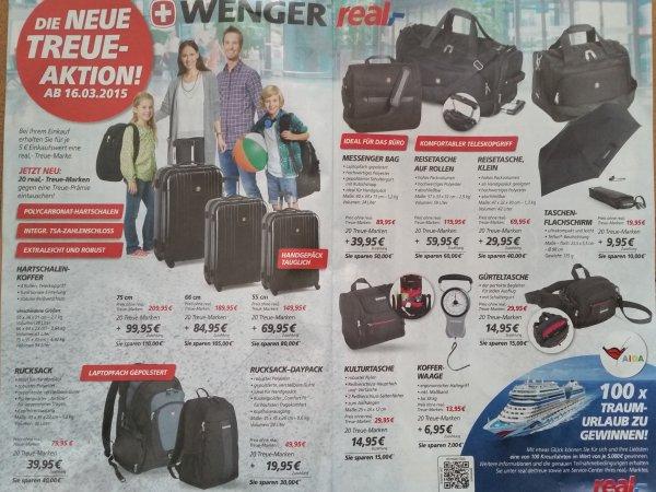 Wenger Aktionswochen bei Real - teilweise bis zu 100 Euro Ersparnis