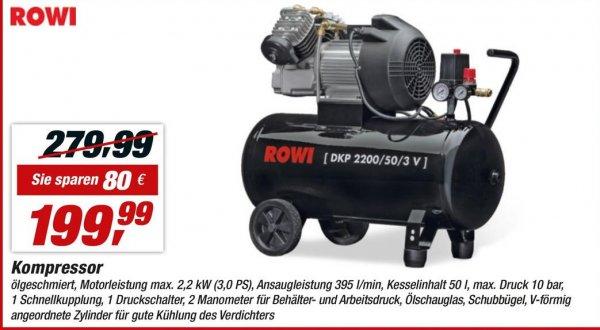 Rowi DKP 2200/50/3 V Kompressor Toom Baumarkt Lokal? Bremen
