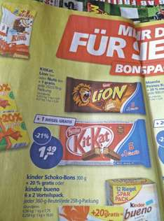 KitKat, Lion oder Nuts 6er Pack @real