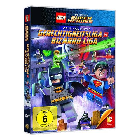 Lego - Gerechtigkeitsliga vs Bizarro Liga DVD + Lego Figur Batman