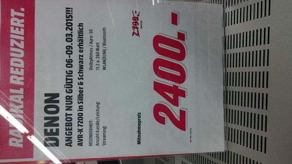 [Lokal Mediamarkt BS] Denon AVR-X7200W für 2.400€, Idealo 2.799€