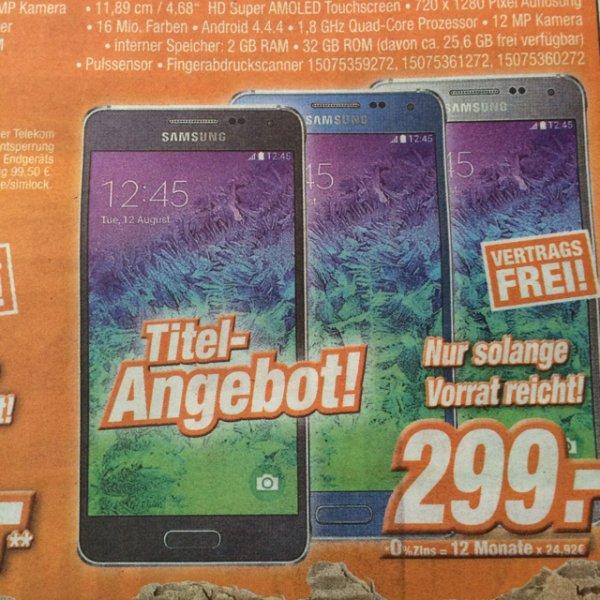 Samsung Galaxy Alpha Lokal Expert Klein