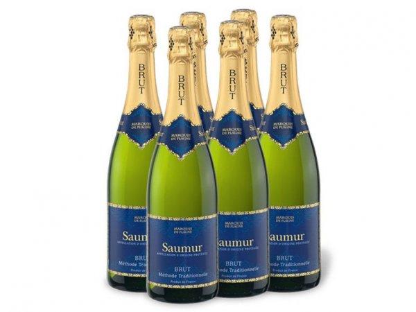 6 x Marquis de Plagne Saumur AOP Schaumwein (Loire) für 18,87€ zzgl. 4,95€ Versand @Lidl Online