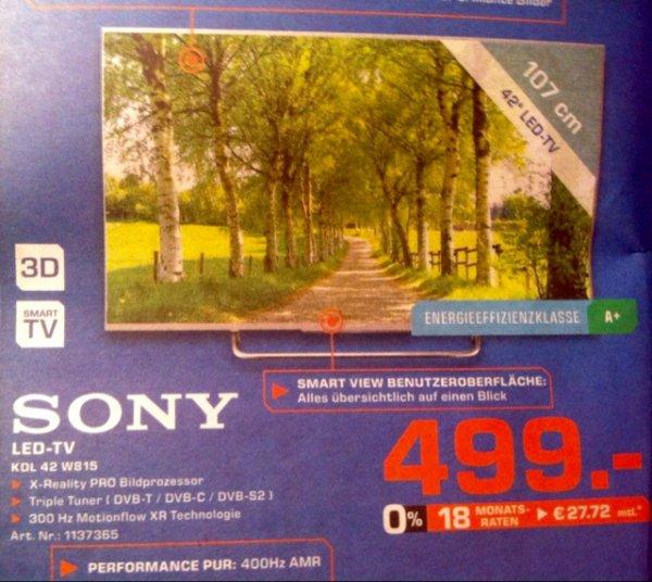 Lokal [Saturn Göttingen] Sony KDL 42w815 BBAEP